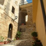 Stairs and ancient fortified walls