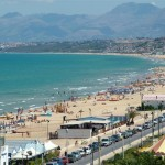 "The long sandy beach ""Playa"" of Castellammare"