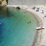 "The sandy beach ""Petrolo"" in the centre of Castellammare"