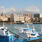 Trapani's waterfront with the cathedral
