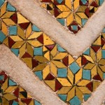 Details of the beautiful mosaics of the cloister