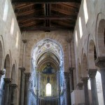 The central nave of the Duomo of Cefalu