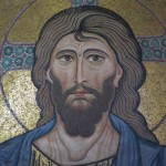 A detail of the Christ Pantocrator