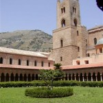 The duomo of Monreale seen from the cloister