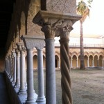 A line of twin columns of the cloister