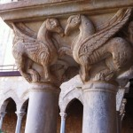 One of the beautiful capitals of the cloister