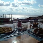 A typical lunch with fresh fish in Pantelleria