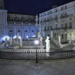 Fontana della Vergogna and Piazza Pretoria in Palermo