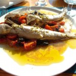 Fresh fish cooked in the Pantesca manner