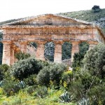 The temple surrounded with the Mediterranean maquis
