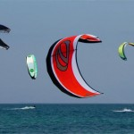 Kitesurfing in the reserve