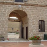 The entrance of Ceuso winery