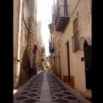 One of the narrow streets of the historical centre of Alcamo