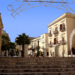 "The beautiful square of Alcamo called ""Piazza Ciullo"""