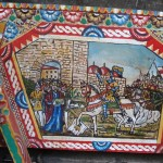 A detail of a sicilian cart