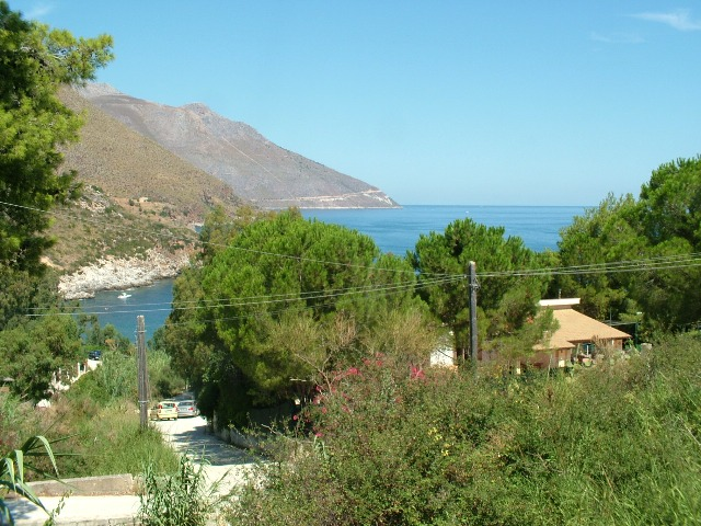 view on the sea from the terrace